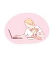work multitasking motherhood mothers day vector image