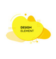 yellow liquid abstract design element vector image vector image