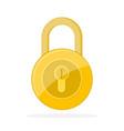 yellow lock icon vector image vector image