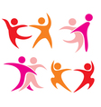 couple dancing set of icons vector image