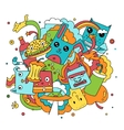Funny doodle vector image