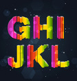 Abstract Rainbow Font G-L vector image
