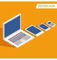 computer tablet smart-phone vector image