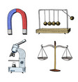 magnet and perpetual motion machine microscope vector image