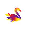 a bird for a logo an image a swan for a vector image vector image