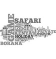 a kenya safari holiday at a private game lodge vector image vector image