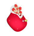 A Santa Bag Full with Christmas Presents vector image