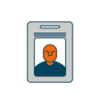 badge isolated pass an employee on white vector image vector image