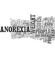 behind pro anorexia sites text word cloud concept vector image vector image