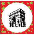 black 8-bit arc de triomphe at paris france vector image vector image