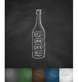 bottle of beer icon vector image vector image