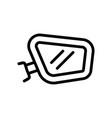 car mirror icon outline vector image vector image