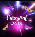 carnival brochure template for brazil carnival in vector image