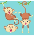 Cartoon monkey with emotions vector image vector image