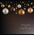 christmas garland with ball and star vector image vector image
