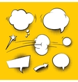 Comic cartoon speech bubbles with halftone shadows vector image
