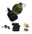 competition contest equipment tires paintball vector image vector image