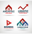 corporation emblems set icons vector image