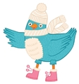 Cute Christmas bird vector image vector image