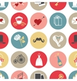 Cute flat wedding icons in modern seamless pattern vector image vector image
