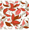 decorative leaves seamless vector image vector image