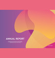 design template trendy gradient background vector image vector image