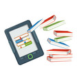 electronic book device contains millions of paper vector image vector image