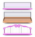 Empty Shop Shelves vector image vector image