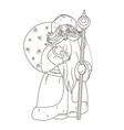fabulous santa claus coloring vector image