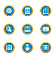 face photo icons set flat style vector image vector image