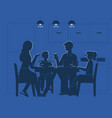 family at dinner table vector image vector image