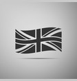 flag of great britain icon on grey background vector image vector image