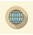 flat web icon globe symbol vector image