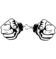 hands free from handcuffs simple vector image vector image