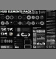 hud elements pack 70 elements vector image vector image