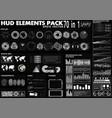 hud elements pack 70 elements vector image