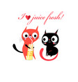 in love funny kittens vector image vector image
