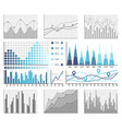 infographics and diagnostics charts and schemes vector image vector image