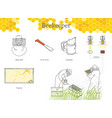 infographics of beekeeping reaction of bees to vector image vector image