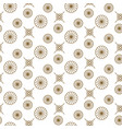japanese floral seamless pattern in gold vector image vector image
