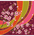 Japanese pattern with sakura blossom vector image vector image