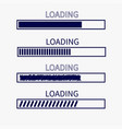 loading progress status bar icon set web design vector image