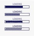 loading progress status bar icon set web design vector image vector image
