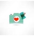 Love photo camera vector image vector image