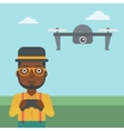 Man flying drone vector image vector image