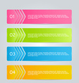 Modern inforgraphics template for banners website vector image vector image