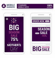 mothers day sale design with mobile mokeup vector image