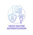 multi-factor authentication concept icon