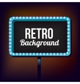 Night retro sign with lights vector image vector image