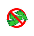 no money color icon free charge sign cash vector image
